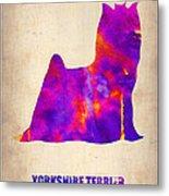 Yorkshire Terrier Poster Metal Print