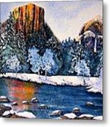 Yosemite In Winter I Metal Print