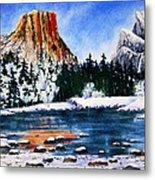 Yosemite In Winter II Metal Print