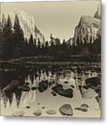 Yosemite National Park Valley View Antique Print   Metal Print by Scott McGuire