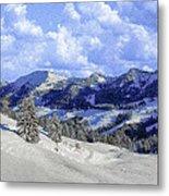 Yosemite National Park Winter Metal Print