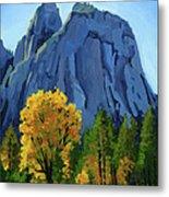 Yosemite Oaks Metal Print