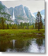 Yosemite Rain Metal Print