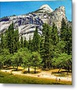 Yosemite Valley Along Yosemite River Beach Metal Print