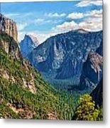 Yosemite Valley Overlook Metal Print