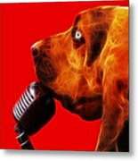 You Ain't Nothing But A Hound Dog - Red - Electric Metal Print