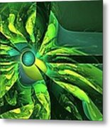 You Are Here --  Events Conspire -- Green Metal Print
