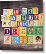 You Are Never Too Old To Dream Big Metal Print