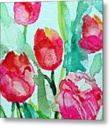 You Enlighten Me- Painting Of Tulips Metal Print