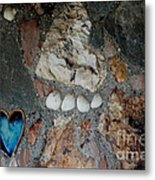 You Left Your Pawprint In My Heart Metal Print