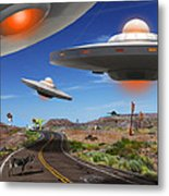 You Never Know What You Will See On Route 66 2 Metal Print by Mike McGlothlen