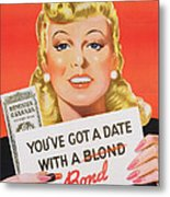You Ve Got A Date With A Bond Poster Advertising Victory Bonds  Metal Print