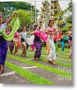 Young Bali Dancers - Indonesia Metal Print