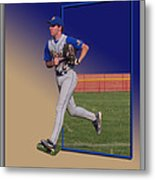 Young Baseball Athlete Metal Print