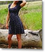 Young Beauty Metal Print