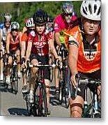Young Bikers Metal Print