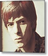 Young Bowie Pop Art Metal Print