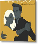 Young Couple Dancing Tango Metal Print