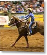 Young Cowgirl Metal Print