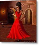 Young Flamenco Dancer Metal Print