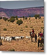 Young Goat Herders Metal Print by Priscilla Burgers