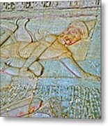 Young God-figure On Wall In Angkor Wat In Angkor Wat Archeological Park Near Siem Reap-cambodia Metal Print