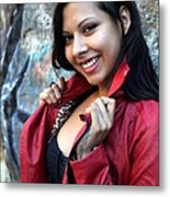 Young Hispanic Woman Metal Print