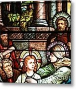 Young Jesus In The Temple Metal Print