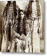 Young Kiowa Belles 1898 Metal Print