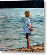 Young Lad By The Shore Metal Print