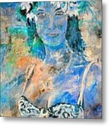 young lady in Papeete Metal Print