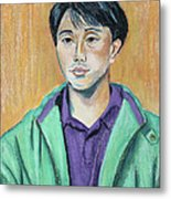 Young Man In A Green Jacket Metal Print