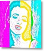 Young Marilyn Soft Pastels Impression Metal Print
