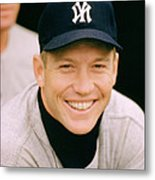 Mickey Mantle Smile Metal Print by Retro Images Archive