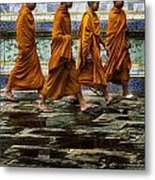 Young Monks Metal Print by Rob Tullis