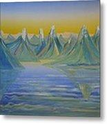 Young Mountains In Lofoten. Metal Print