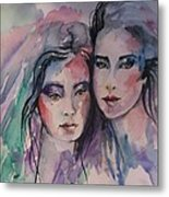 Young Women  Metal Print