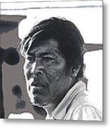 Young Yaqui Man New Pascua Arizona 1969 Metal Print