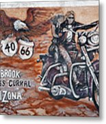 Young's Corral In Holbrook Az On Route 66 - The Mother Road Metal Print