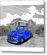 Your 1952 F 100 Pick Up In N M  Metal Print