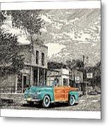 1946 Ford Sports Man Convertible  In Hillsboro N M  Metal Print