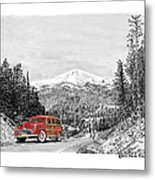 1946 Ford Special Deluxe Woody On Apache Summit Metal Print