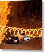 Your Cars On Fire Metal Print