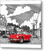 Your Ferrari In Tularosa N M  Metal Print