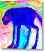 When Your Inner Dog Is Feeling Blue  Metal Print