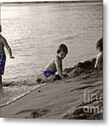 Youth At The Beach Metal Print