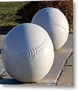Youth Baseball Park Metal Print