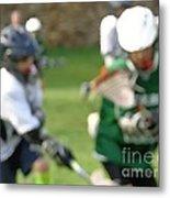 Youth Lacrosse Metal Print
