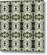 Yucca White Pattern Metal Print