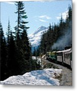 Yukon Railroad Metal Print